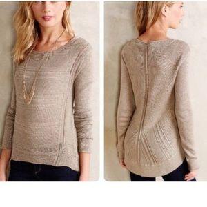 Anthro | Moth Stitch Mix Wool Blend Sweater
